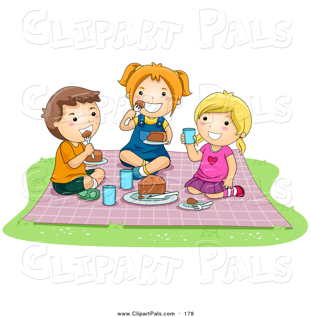 Outside clipart may Girl Clipart With Family Picnic