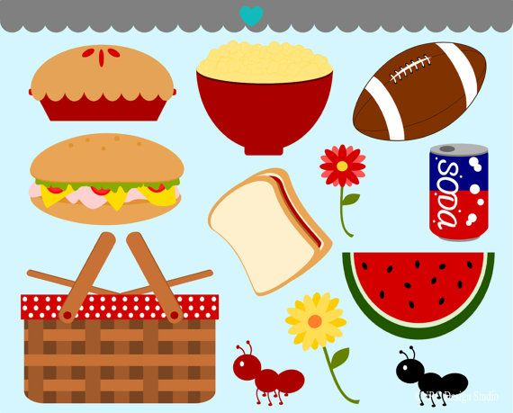 Burger clipart picnic food Picnic Clip Art On Picnic