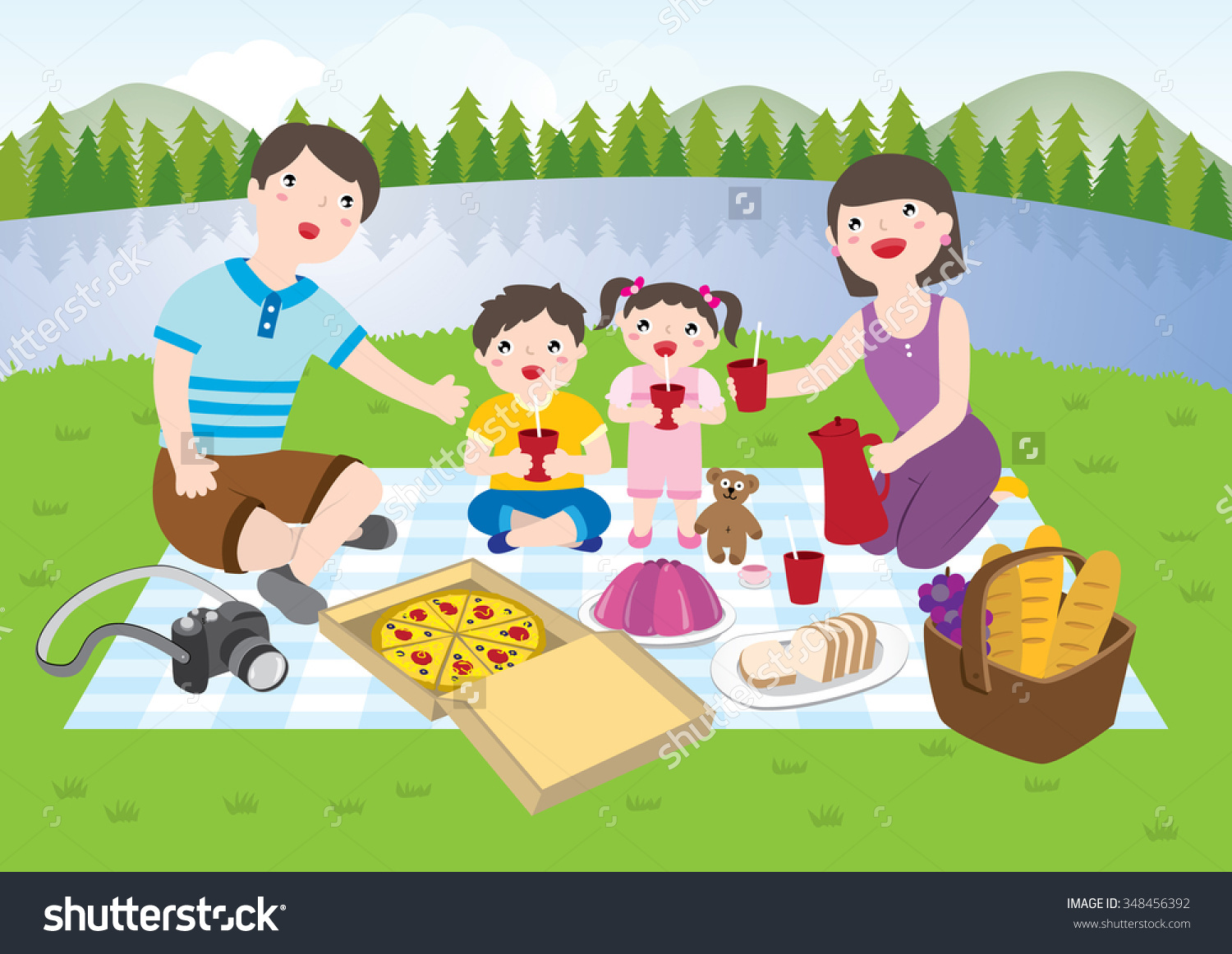 Picnic clipart playground Free the Picnic park Art