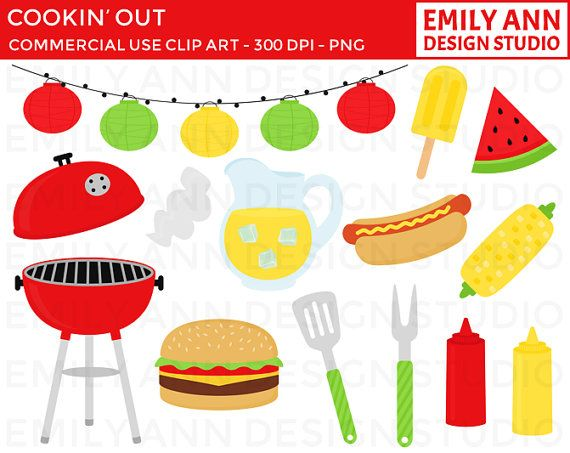 Barbecue clipart birthday bbq Hamburger Grill Summer BBQ picnic