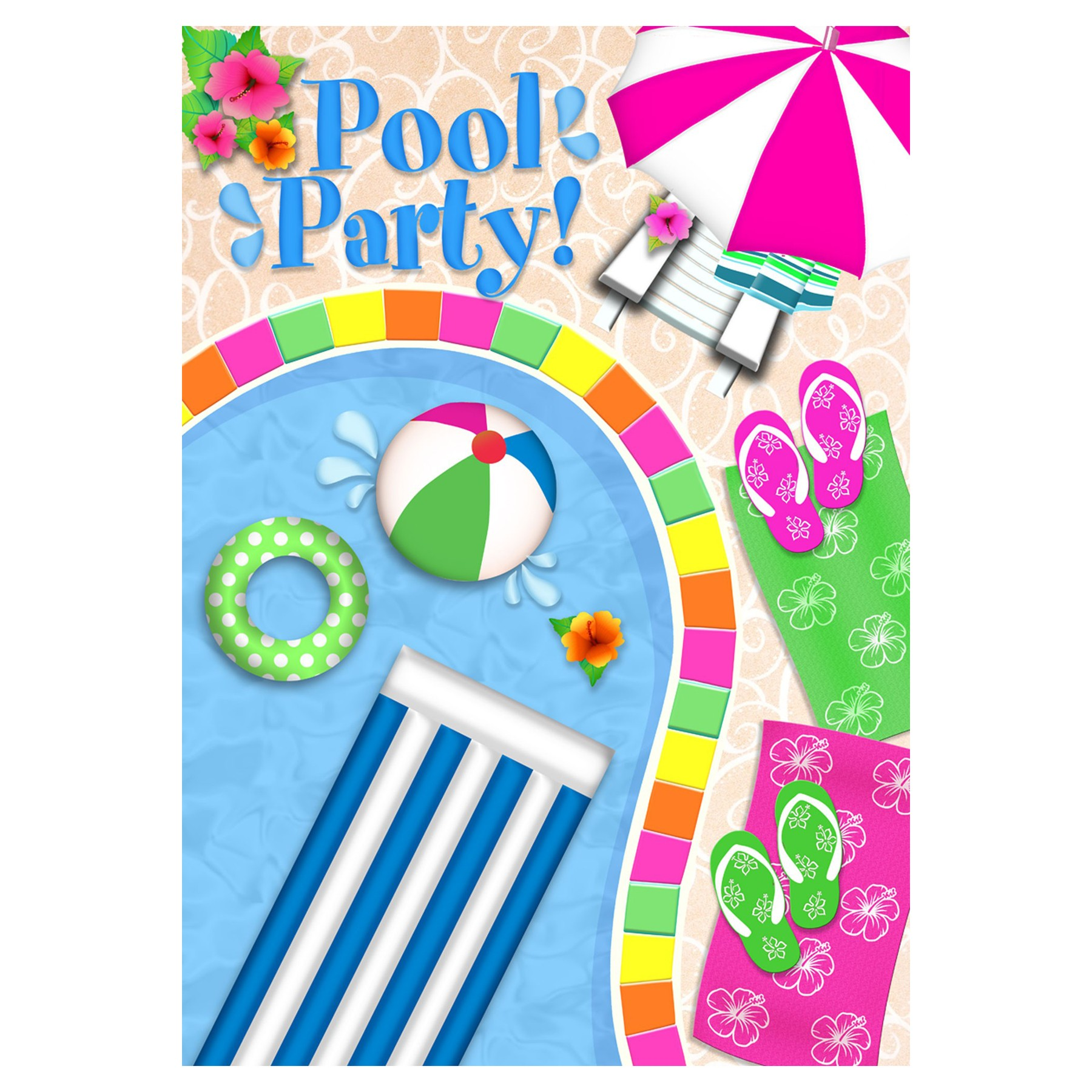 Background clipart pool party Panda Images Party Bbq Free