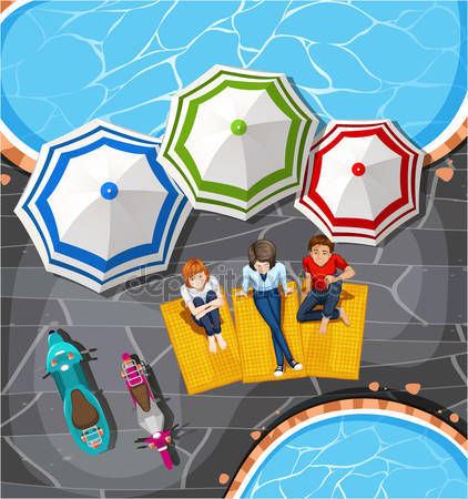 Picnic clipart pool By Vector © Stock pool