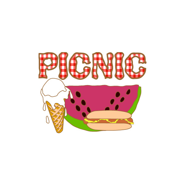Picnic clipart preschool On Poster Cream Poster found