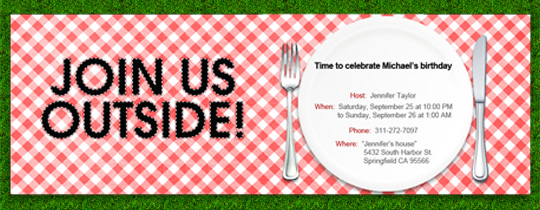 Picnic clipart save the date #3