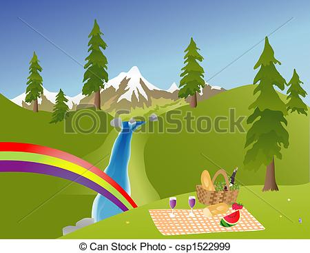 Picnic the in Mountains in