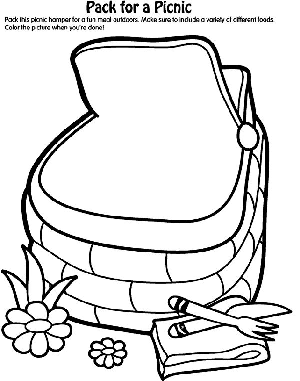 Picnic Basket clipart outline Pinterest picnic 96 lunch on