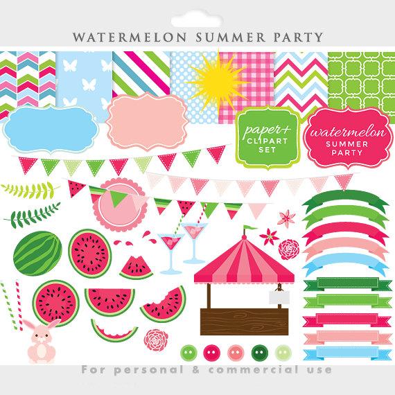 Watermelon clipart paper Clip fruit art art Easter