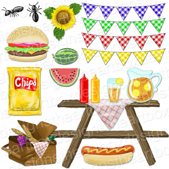 Hamburger clipart food item Banners Bunting Hot Gingham Food
