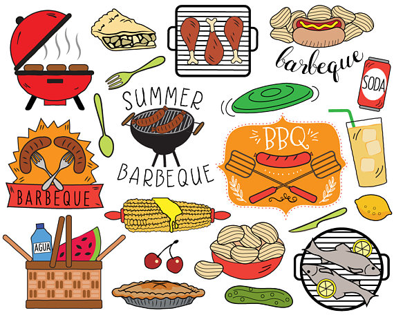 Picnic Basket clipart picnic bbq Summer BBQ barbecue invitation clip
