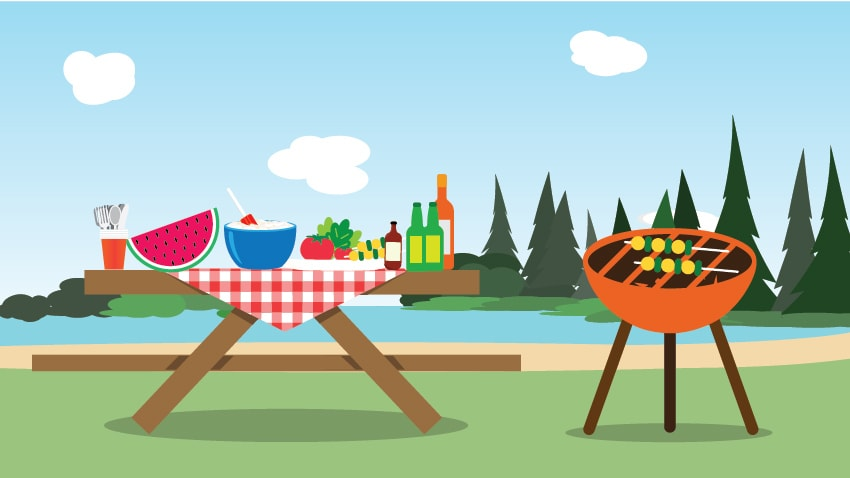 Picnic clipart summer weather #3