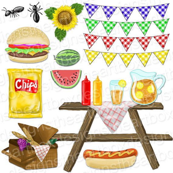 Picnic clipart summer weather #6