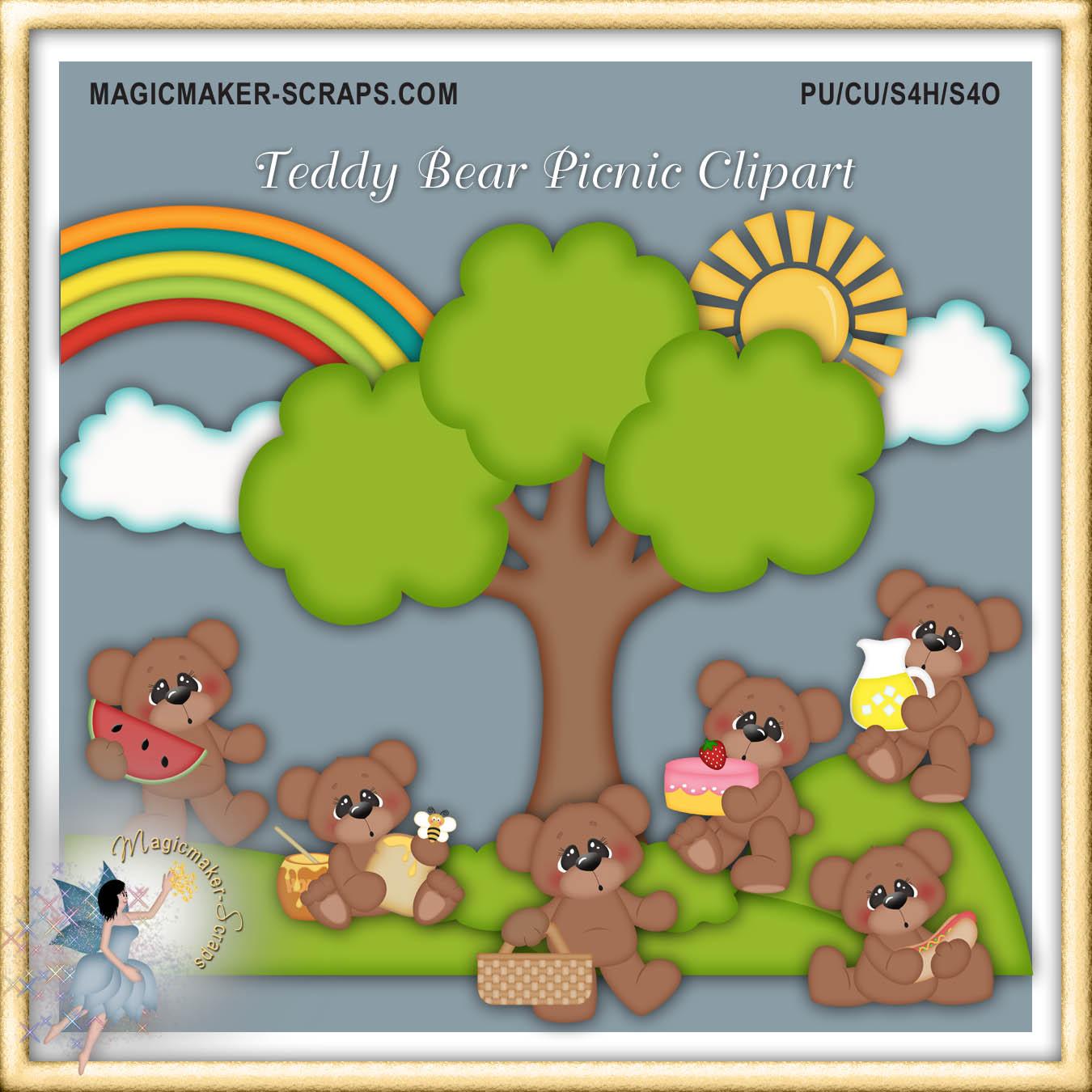 Picnic clipart teddy bear picnic #11