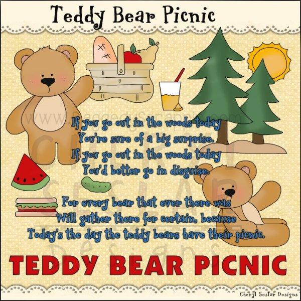 Picnic clipart teddy bear picnic #9