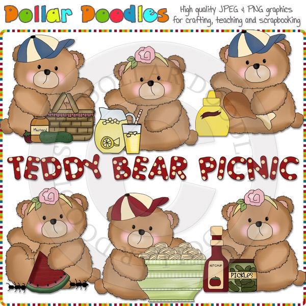 Picnic clipart teddy bear picnic #12