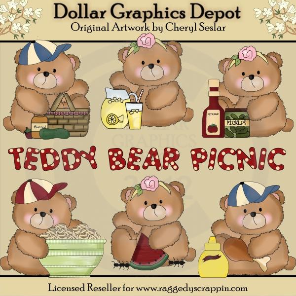 Picnic clipart teddy bear picnic #14