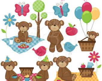 Picnic clipart teddy bear picnic #3