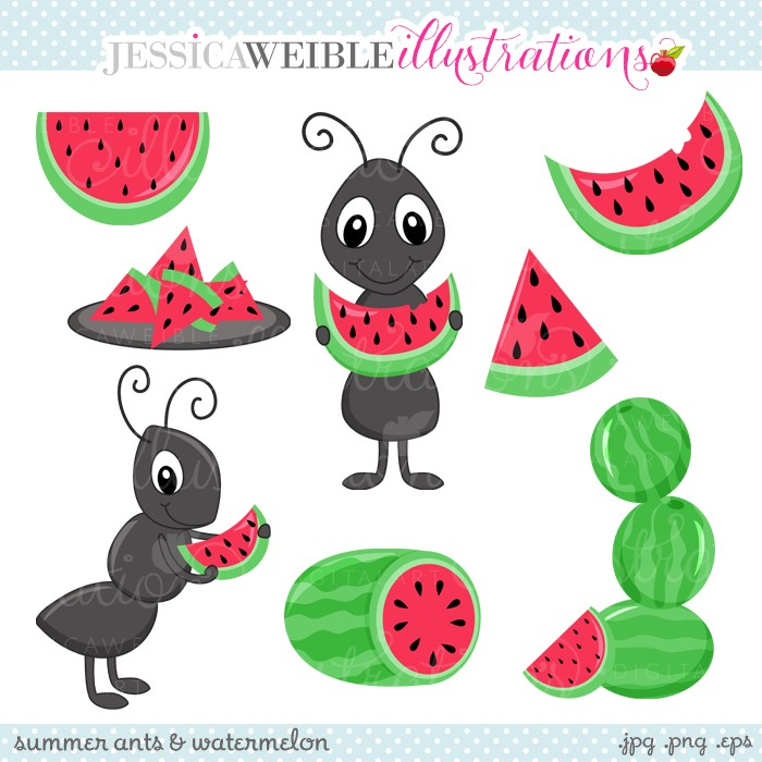 Watermelon clipart individual  Ants Create JW with