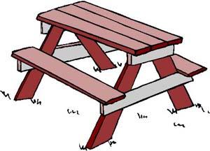 Picnic Table clipart Table picnic art table 4