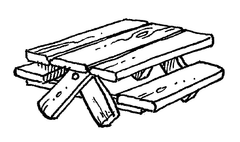 Picnic Table clipart wood table Images Clipart Free Art Panda