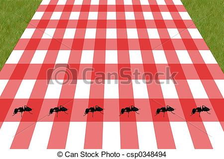 Red  Clipart Picnic Table