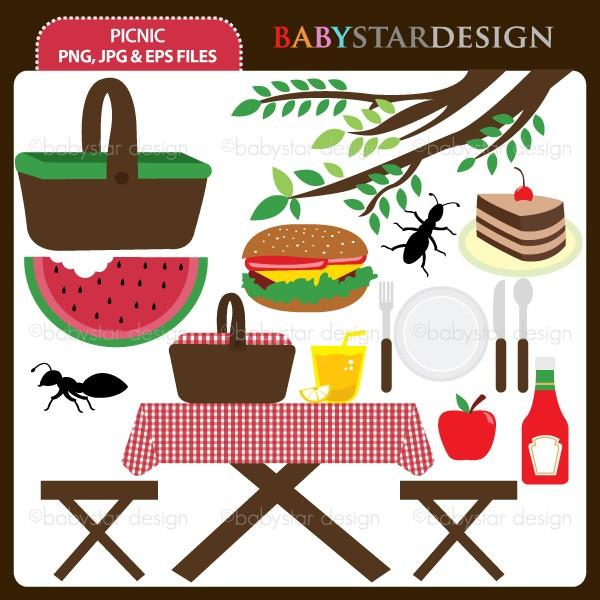 Picnic Table clipart summer picnic #8