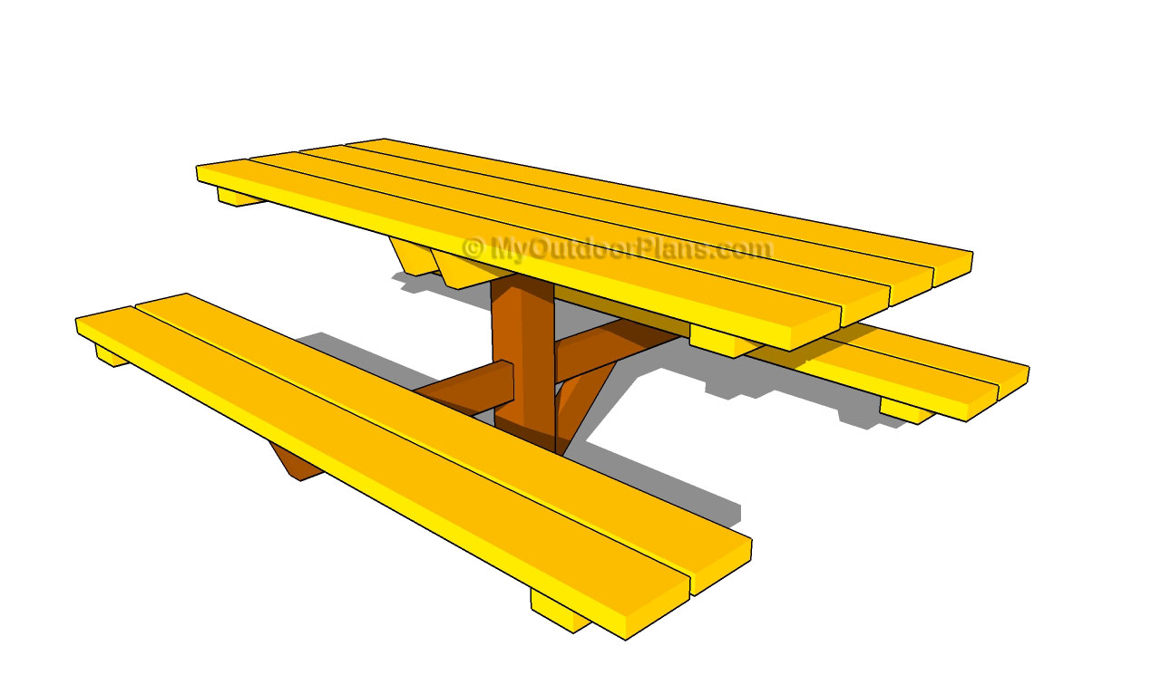 Picnic Table clipart wood table Wooden Art Shed Download DIY