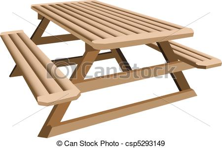 Picnic Table clipart wood table Illustration An  table a