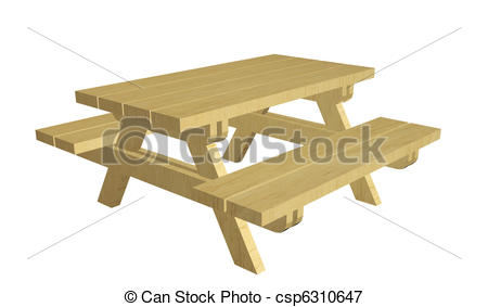 Picnic Table clipart wood table Of Illustrations illustration Stock picnic