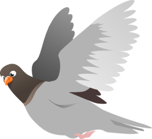 White clipart pigeon flying Cliparts Clipart Flying Pigeon Pigeon