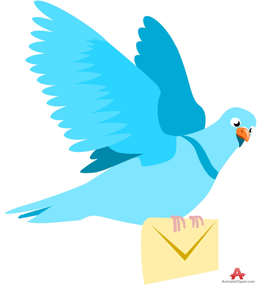 Pidgeons clipart letter With Mail Flying Download Clipart
