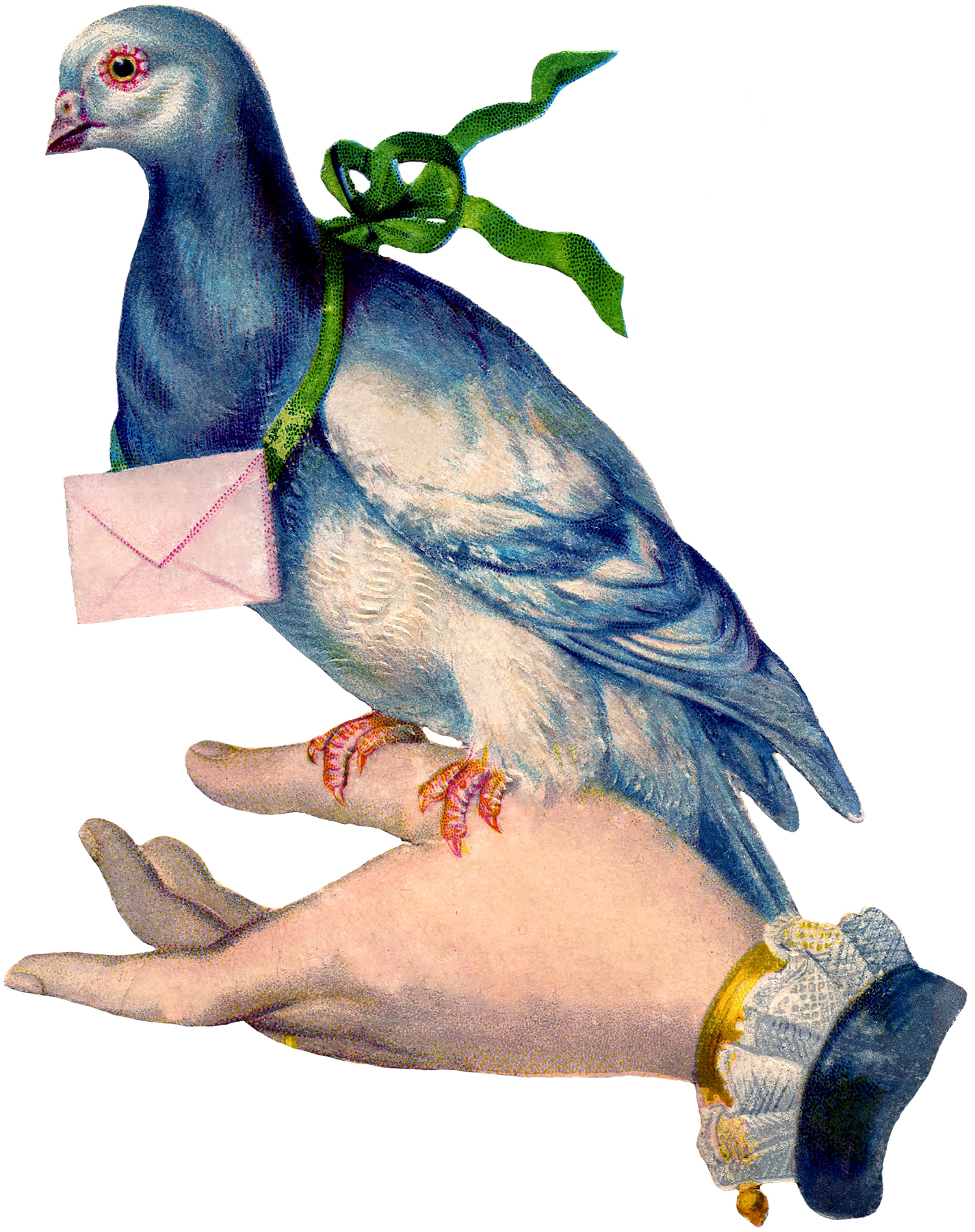 Pidgeons clipart letter Image Carrier with Image Pigeon