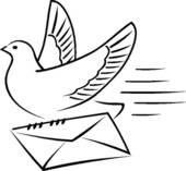 Pidgeons clipart letter Cartoon; Carrier letter GoGraph Royalty