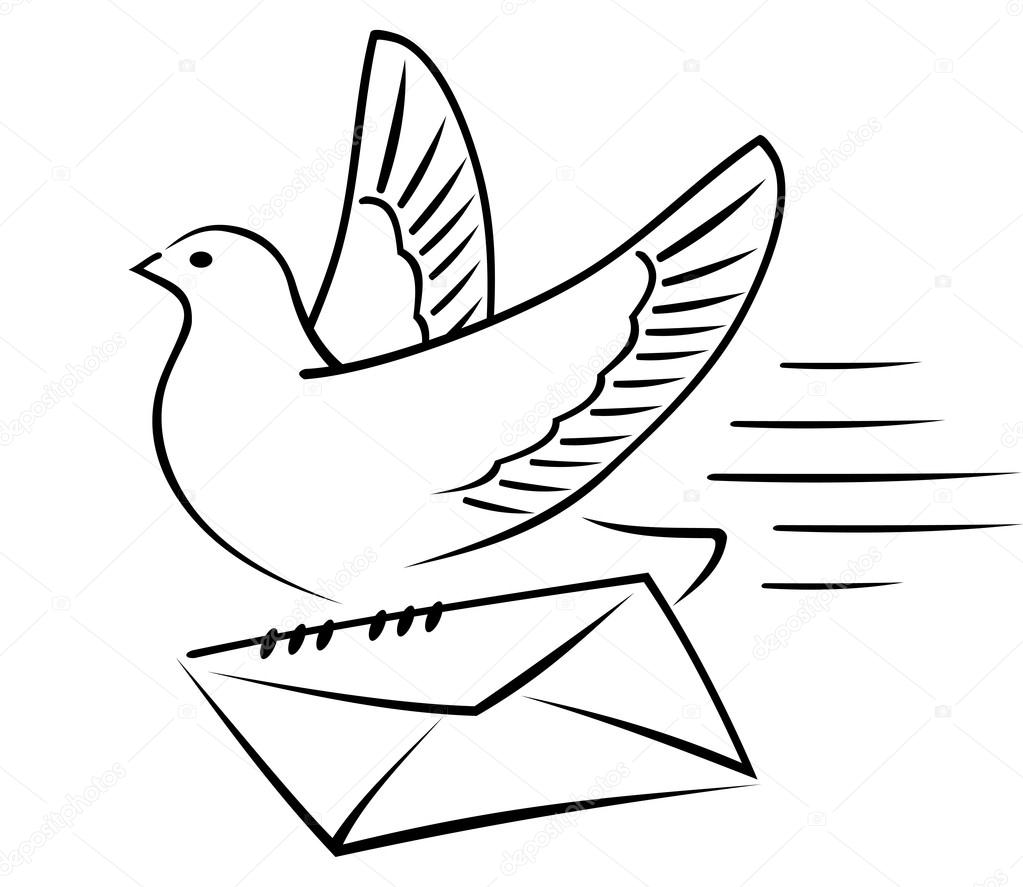 Pidgeons clipart letter Gives an a Stock by