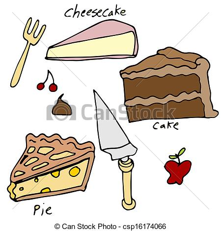 Pie clipart dessert And Pie of Cake Dessert