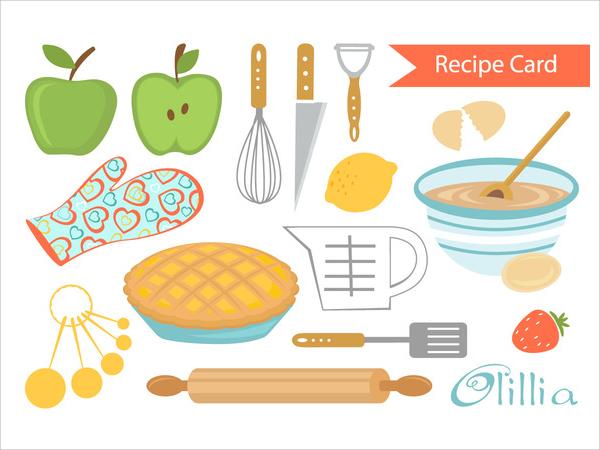 Pie clipart recipe Printable Vector  Format Card