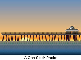 Pier clipart   Royalty ocean art