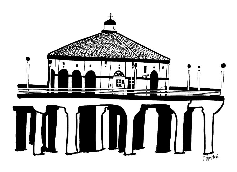 Pier clipart black and white By by Candace Beach Stalder