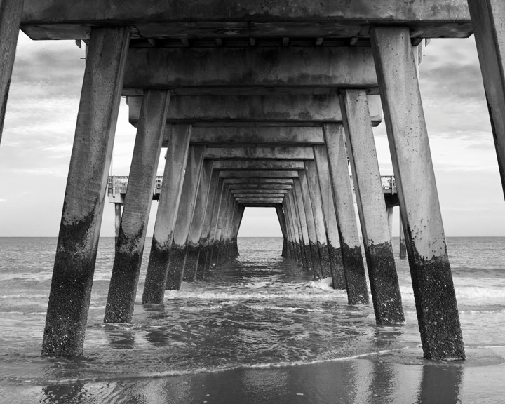Pier clipart black and white Beach photo Black Island and