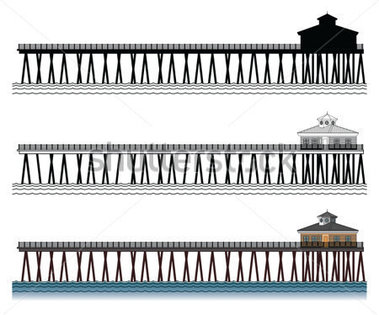Pier clipart black and white And and White Clip –