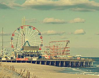 Pier clipart boardwalk Wall Beach pier Pier Etsy