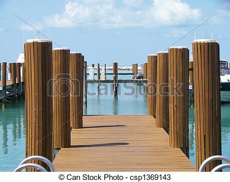 Pier clipart boat dock Photos Dock of Bahamas Stock
