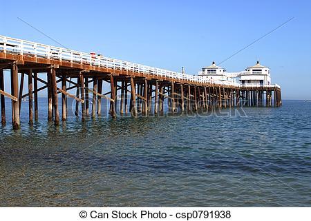 Pier clipart bridge Pier Fishing Malibu a Fishing