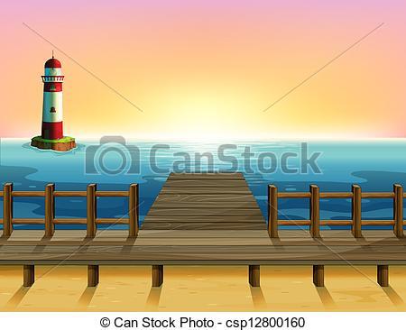 Pier clipart bridge Parola tall wooden wooden Clip