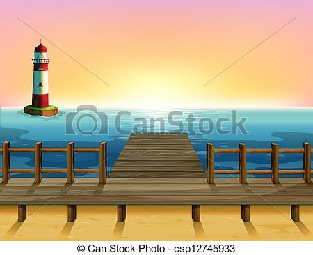 Pier clipart cartoon Csp12745933 sea parola sea and