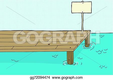 Pier clipart vector Stock Vector Vector pier Fishing