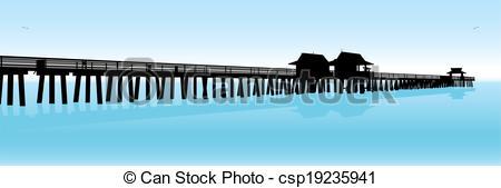 Pier clipart vector A  csp19235941 Tropical Vector