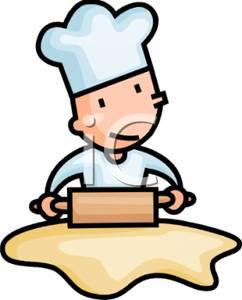 Cartoon clipart baker Rolling of Clipart a Baker