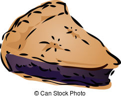 Pies clipart bluberry  Clipart pie drawn hand