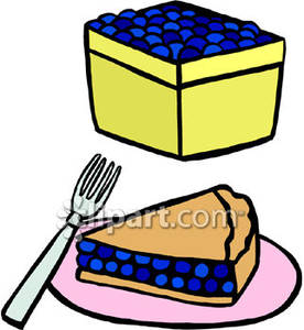 Pie clipart blueberry pie Royalty Clipart of Pie Basket
