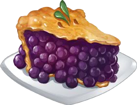 Pies clipart blueberry pie Clip and Milk ChefVille Food